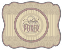 Vintage poker clubs label Stock Photo