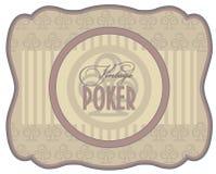 Vintage poker clubs label Stock Photo