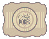 Vintage poker diamonds label Royalty Free Stock Photography