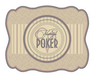 Vintage poker hearts label Royalty Free Stock Photo
