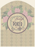 Vintage poker label Royalty Free Stock Photo