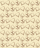 Vintage poker seamless pattern, vector Royalty Free Stock Image