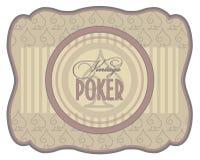 Vintage poker spades label, Stock Image