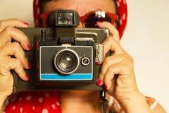 Vintage Polaroid Camera Royalty Free Stock Photography