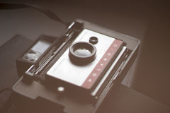 Vintage Polaroid camera Royalty Free Stock Photo