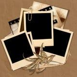 Vintage polaroid frame. Vintage   background with retro photos.page family album Stock Images