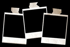 Vintage Polaroid frames. Empty Vintage shabby grunge Polaroid frame frames Royalty Free Stock Photo