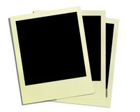 Vintage polaroid frames. With clipping work path at white Royalty Free Stock Image