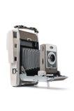 Vintage Polaroid instant camera. On a white background Royalty Free Stock Photo