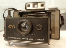 Vintage Polaroid Land Camera Stock Photography