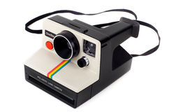 Vintage Polaroid Land Camera OneStep. The classic Polaroid SX-70 Land Camera OneStep is a culture symbol that helped bring instant photography to the masses by Stock Images