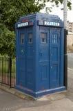 Vintage police box. Tardis blue vintage police box Glasgow Royalty Free Stock Photography