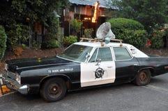 Vintage Police Car. With huge speaker Stock Image