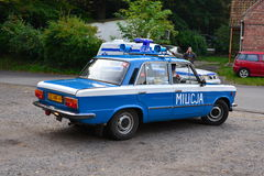 Vintage police car at a car show Royalty Free Stock Photos