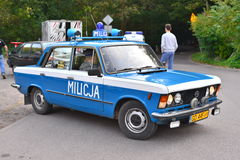Classic police car at a car show Royalty Free Stock Photography