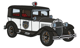 Vintage police car Stock Photo
