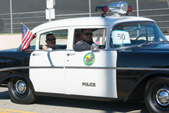 Vintage police car Stock Photography