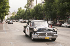 Vintage Police Car Parade in Hollywood Royalty Free Stock Images