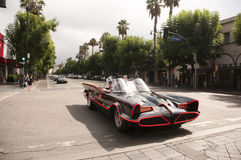 Vintage Police Car Parade in Hollywood Royalty Free Stock Photography