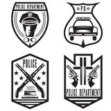 Vintage police law enforcement badges Stock Image