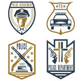 Vintage police law enforcement badges Royalty Free Stock Image
