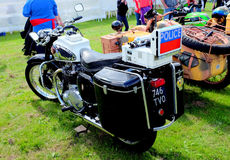 Vintage Police Motorcycle . Royalty Free Stock Photography