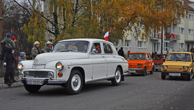 Vintage Polish car during a parade Stock Photo