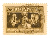 Vintage Polish Postage Stamp royalty free stock image