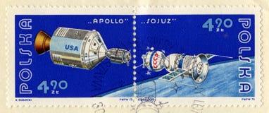 Vintage Polish Stamp Commemorating Soyuz Royalty Free Stock Photo