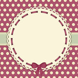 Vintage polka dot background with ribbon Stock Images