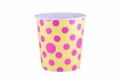 Vintage polka dot bucket Stock Photography