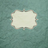 Vintage polka dot card. Royalty Free Stock Images