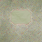 Vintage polka dot card. EPS 8 Stock Images
