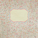 Vintage polka dot card. EPS 8 Royalty Free Stock Photos