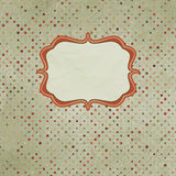 Vintage polka dot card. EPS 8 Royalty Free Stock Images