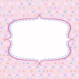 Vintage polka dot card with frame Royalty Free Stock Image