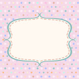 Vintage polka dot card with frame Stock Image