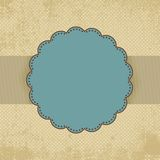 Vintage polka dot card template. EPS 8 Stock Image