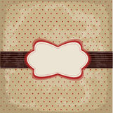 Vintage polka dot design Stock Images