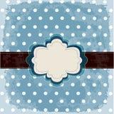Vintage polka dot design Stock Images