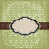 Vintage polka dot design Royalty Free Stock Photos