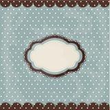 Vintage polka dot design, brown frame Royalty Free Stock Photos
