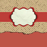 Vintage polka dot design. EPS 8 Stock Image