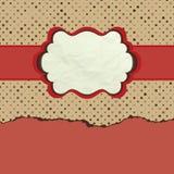 Vintage polka dot design. EPS 8 Stock Image