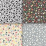 Vintage polka dot seamless patterns set Royalty Free Stock Photos