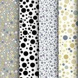 Vintage polka dot seamless patterns set Royalty Free Stock Photo