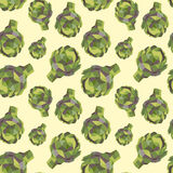 Vintage polygon artichoke pattern Royalty Free Stock Photography