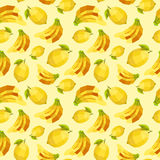 Vintage polygon banana lemon pattern Stock Photo