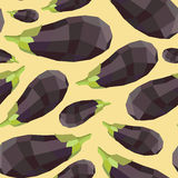 Vintage polygon eggplant yellow pattern Royalty Free Stock Images