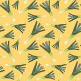 Vintage polygon leek yellow pattern Royalty Free Stock Photography